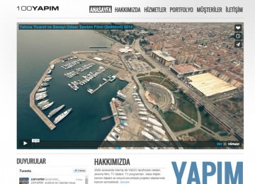 100 Yapım Corporate Web Site