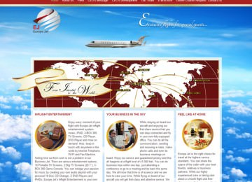Euopejet Corporate Web Site