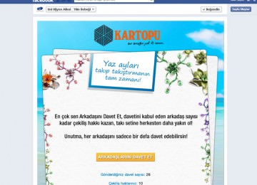 Kartopu Invitation application for Facebook