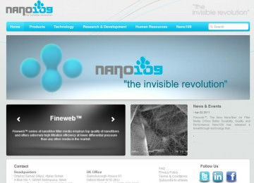 Nano109 Corporate Web Site