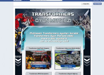Transformers Facebook Game Tab